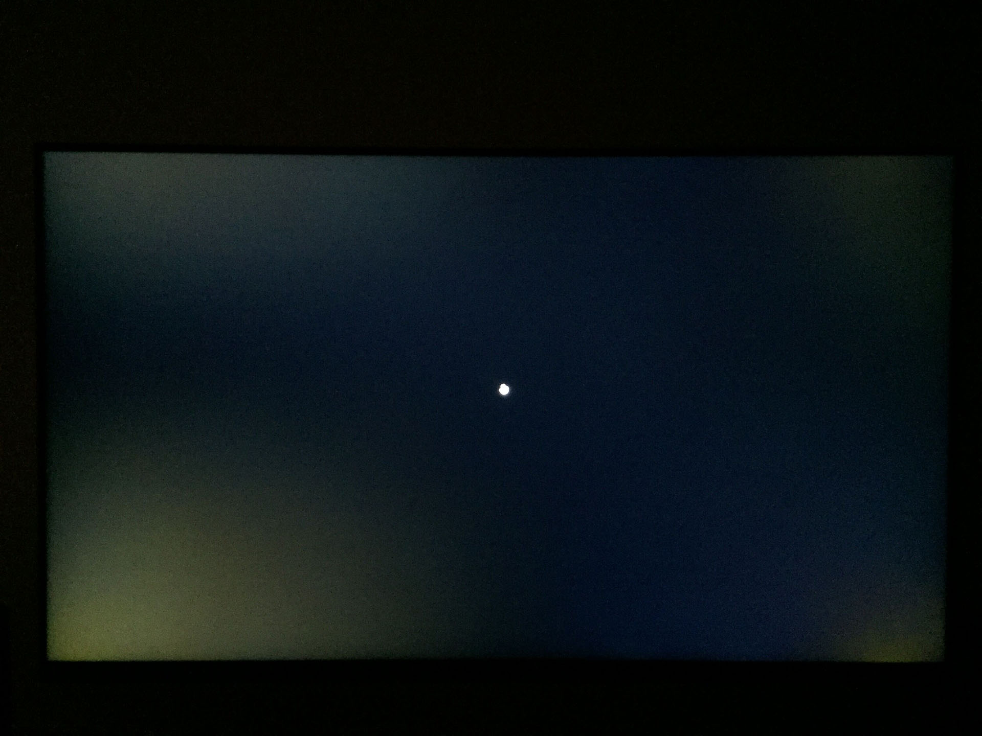 Backlight glow or bleed of lcd IPS monitor