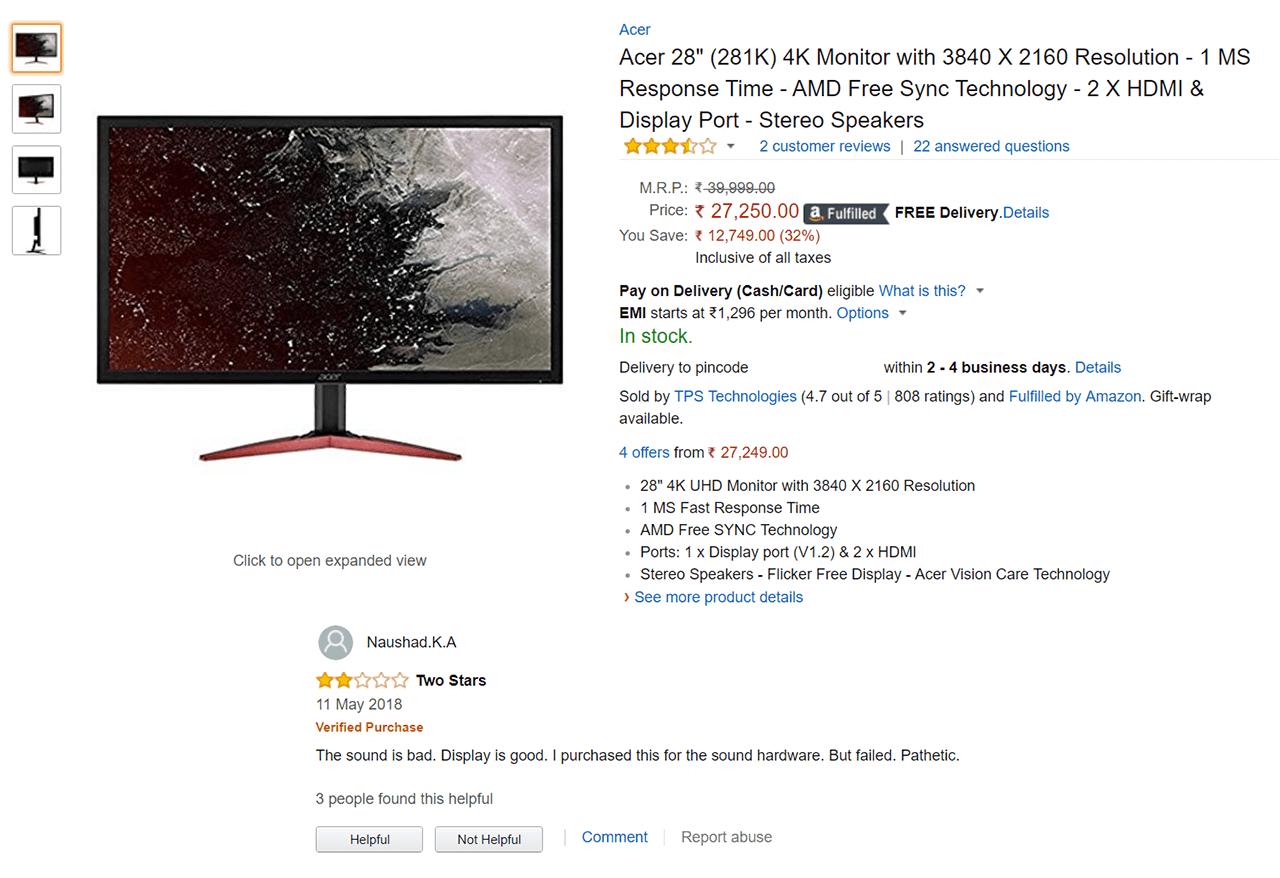 Best 27, 28, 29 & 32 inch monitors in India (1440p 4k 144hz